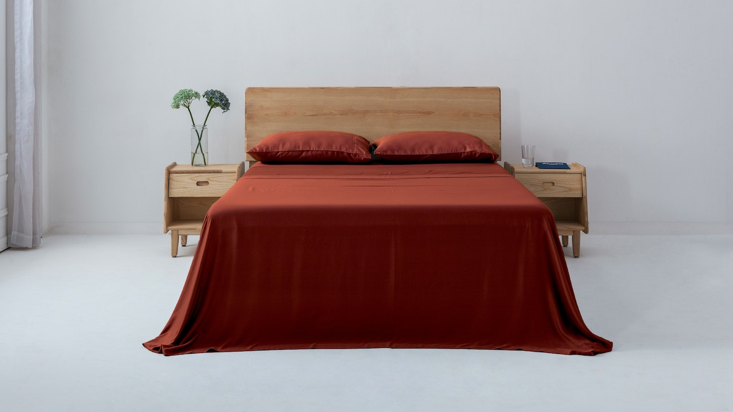 Ecosa marsala bamboo sheet set