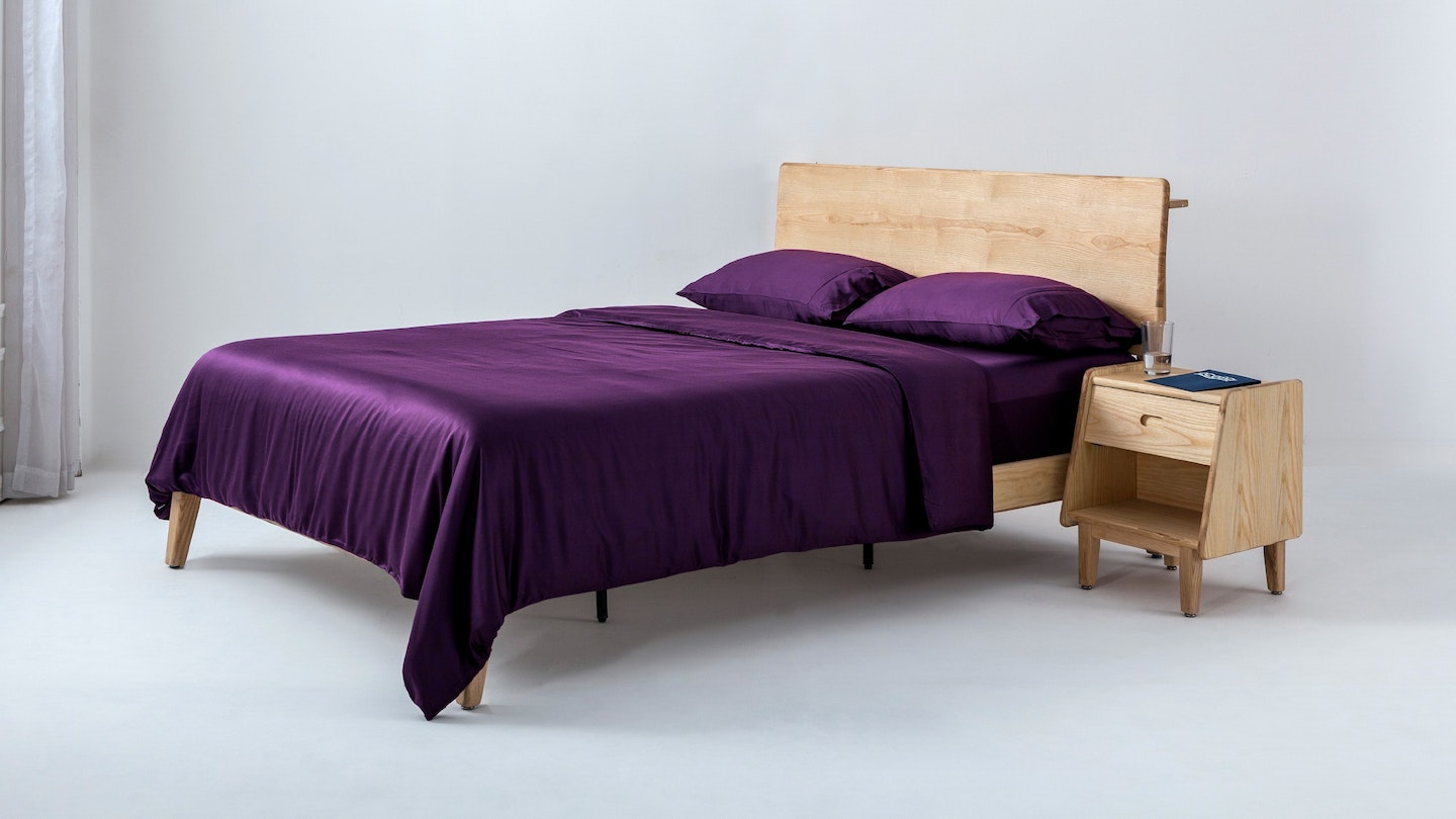 Ecosa purple bamboo duvet cover set