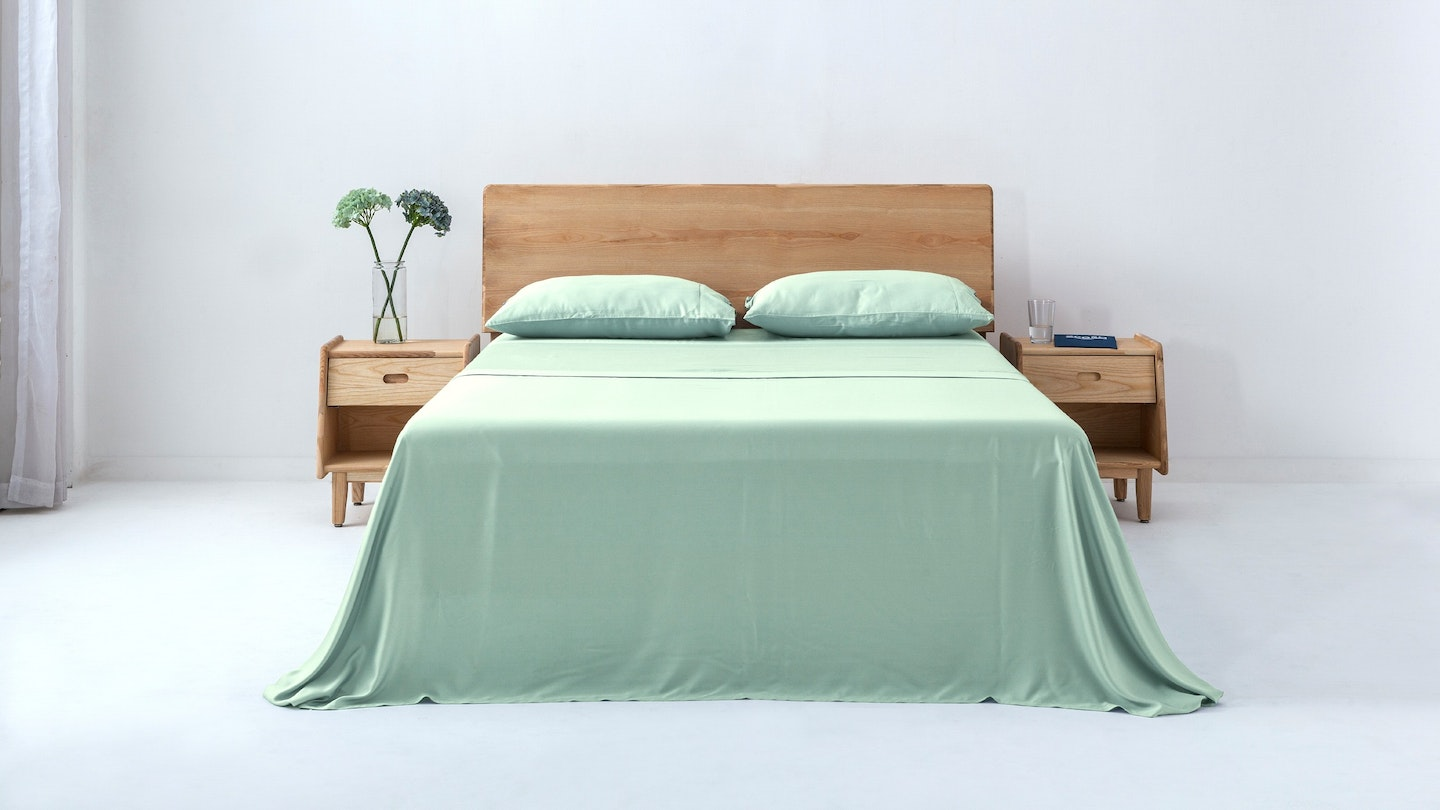 Ecosa light green bamboo sheet set
