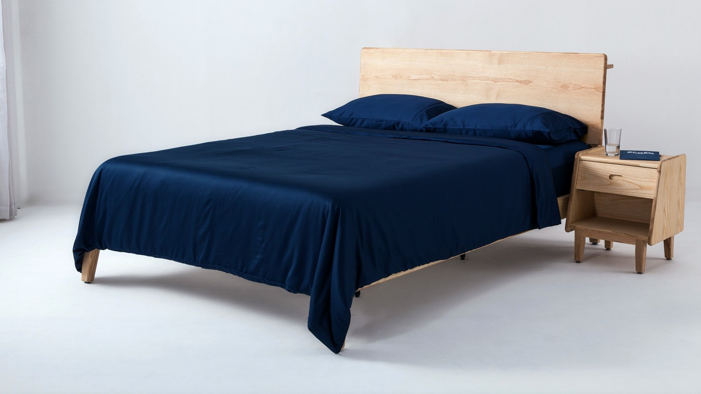 Ecosa navy blue bamboo duvet cover set