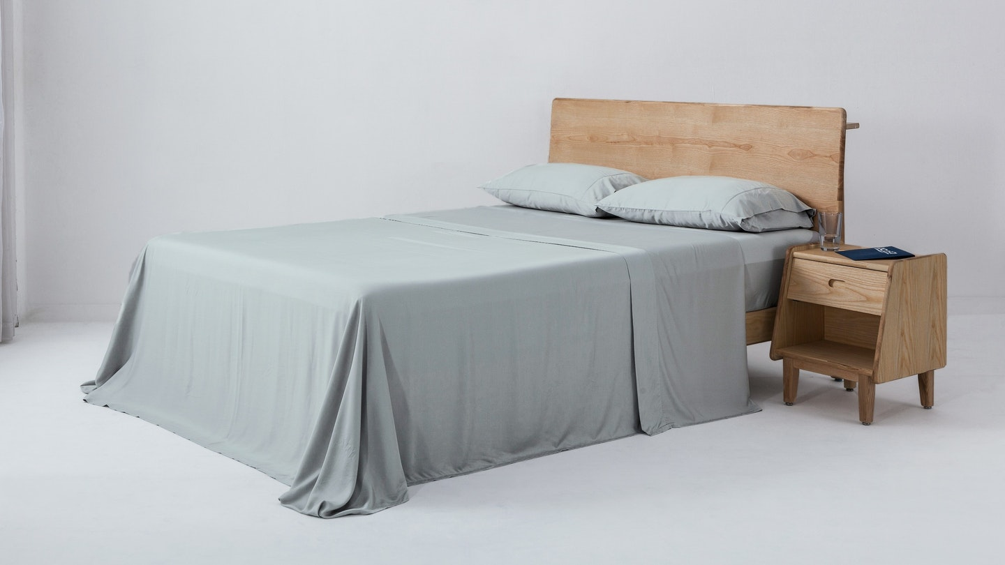 Ecosa grey bamboo sheet set