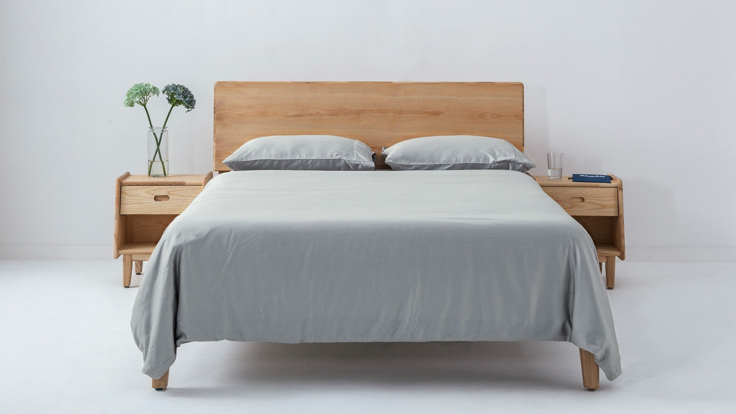 Ecosa grey bamboo duvet cover set
