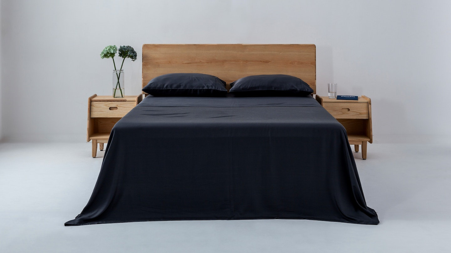 Ecosa black bamboo sheet set