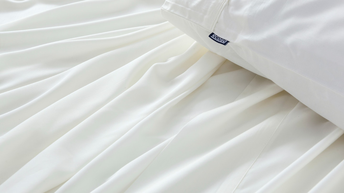 Ecosa ivory bamboo pillowcase