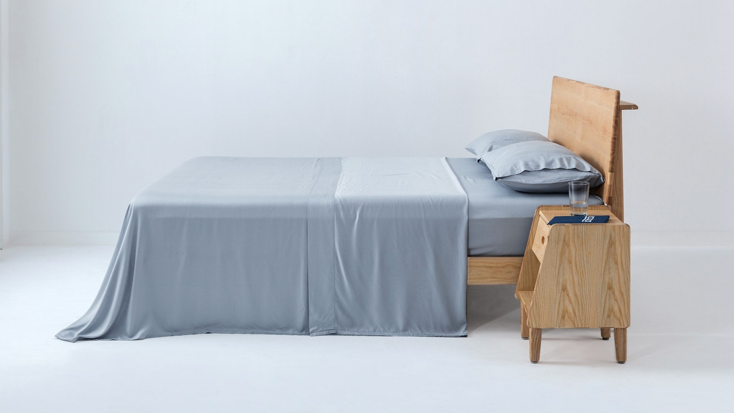 Ecosa sky blue bamboo sheet set