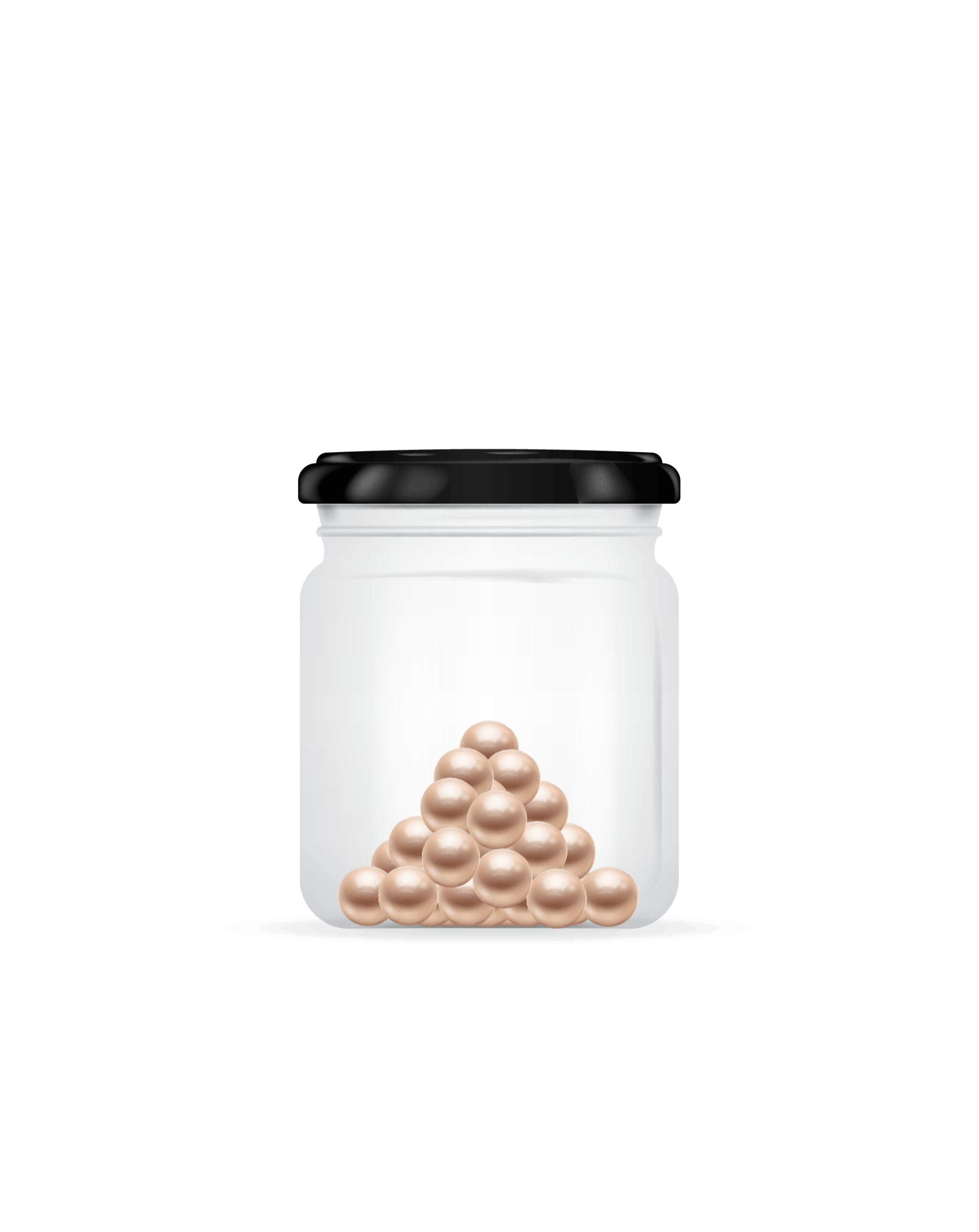 a jar with medium momme weighting