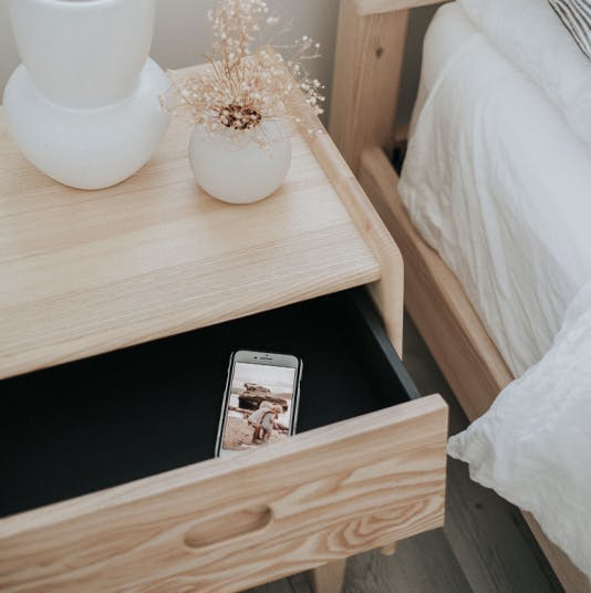 Ecosa Bedside Table with Traci Sheppard