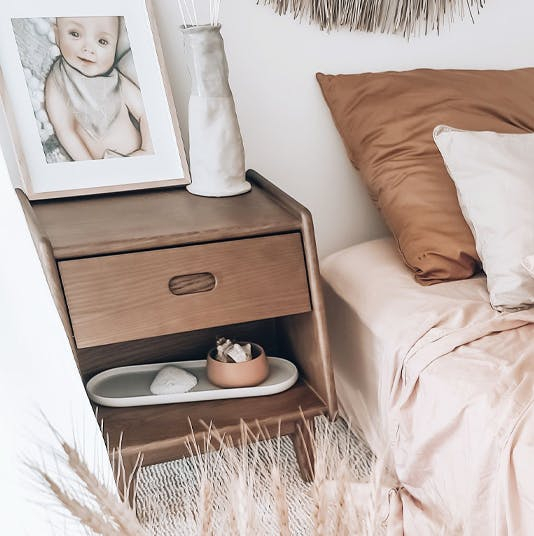 Ecosa Bedside Table with Raising K and T