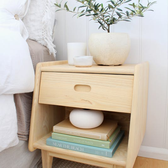Ecosa Bedside Table with Zoe Gilpin
