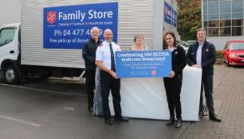 Ecosa Donates its 500th Mattress to the Salvation Army in New Zealand